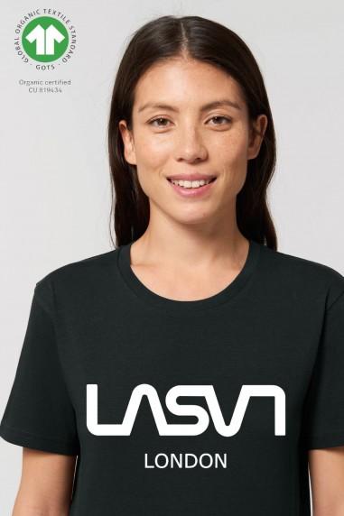 Camiseta de mujer ORGANIC LONDON Negra