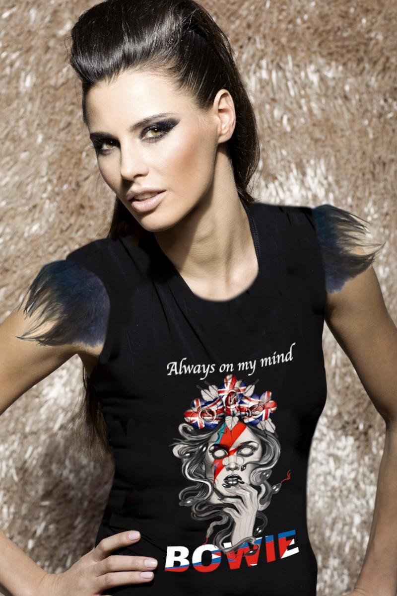 Camiseta de mujer LONDON BOWIE Negra