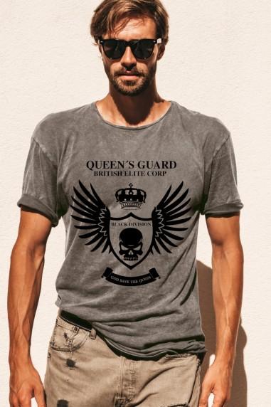Camiseta de hombre GUARD LONDON Gris...