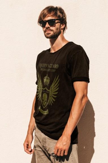Camiseta de hombre GUARD LONDON Negra