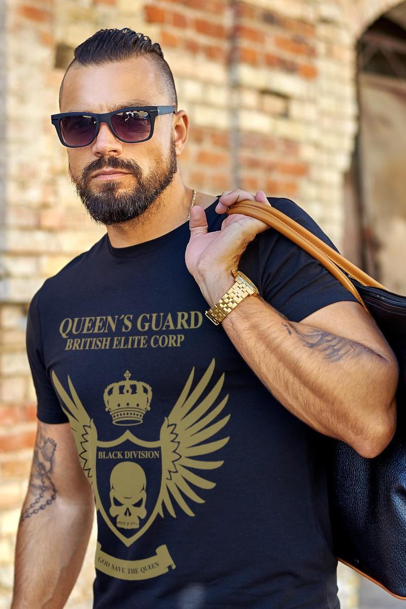 Camiseta de hombre GUARD LONDON azul marino