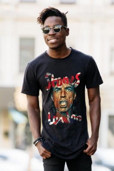 Camiseta de hombre MIKE LONDON Negra...