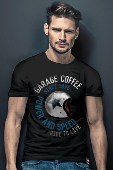 Camiseta de hombre GARAGE Negra...