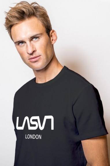 Camiseta de hombre BASIC LONDON Negra