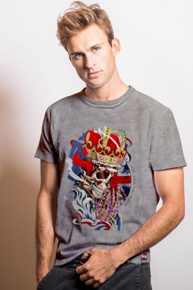 Camiseta de hombre GOD LONDON Gris...