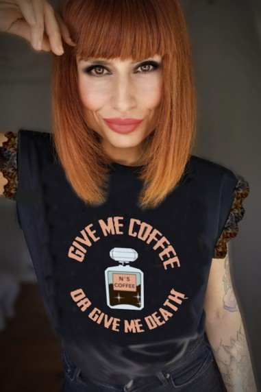 Camiseta de mujer COFFEE Negra