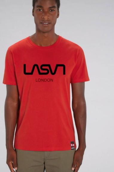 Camiseta de hombre ORGANIC LONDON Roja