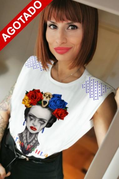 Camiseta de mujer FRIDA HEROINES Blanca