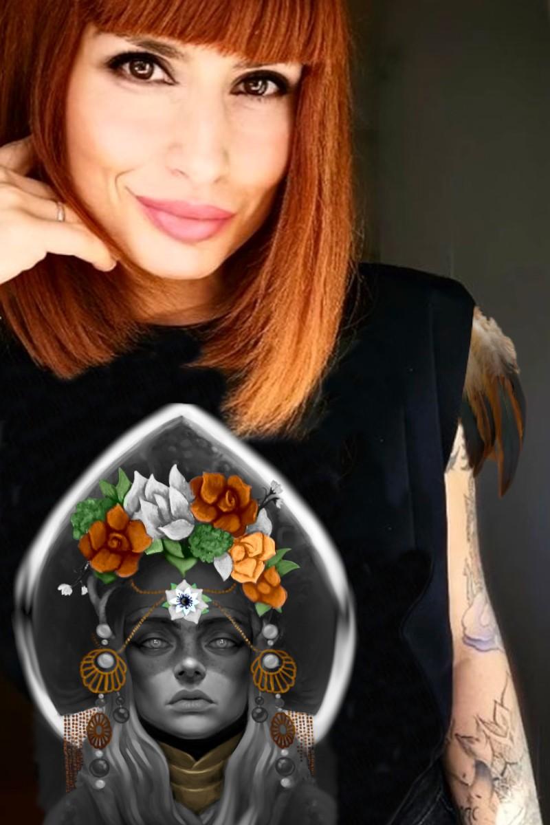 Camiseta de mujer KAHLO negra