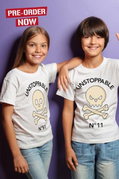 Camiseta para niños UNSTOPPABLE Blanca
