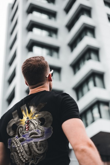 Camiseta de hombre OUXO SEAS negra