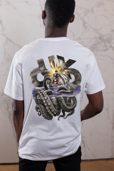 Camiseta de hombre OUXO SEAS blanca