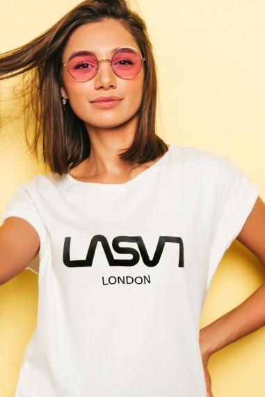 Camiseta de mujer BASIC LONDON Blanca