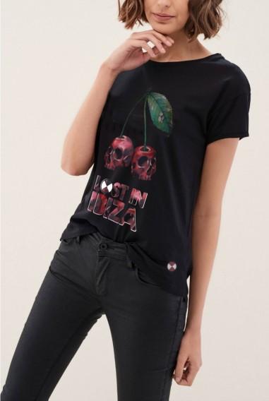 Camiseta Mujer Fit Ibiza Black