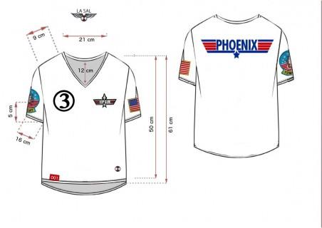 Camiseta Mujer Top Gun Phoenix Blanco