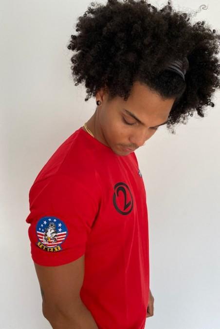 Camiseta Unisex Top Gun Maverick rojo