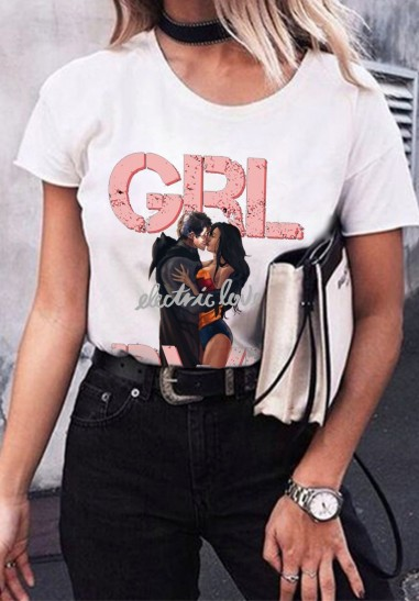 Camiseta Mujer Oversize electric Blanco