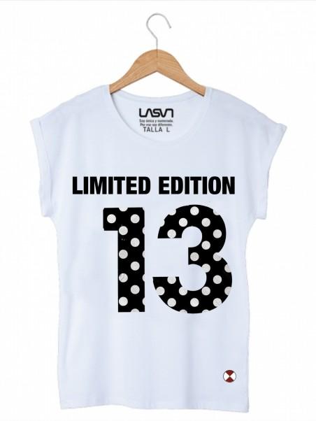 Camiseta Mujer Oversize Lunars Blanca