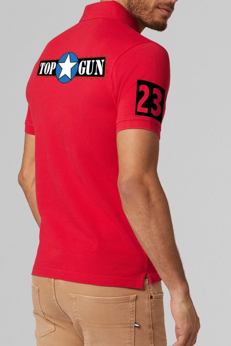 Polo hombre Topgun Pilot rojo
