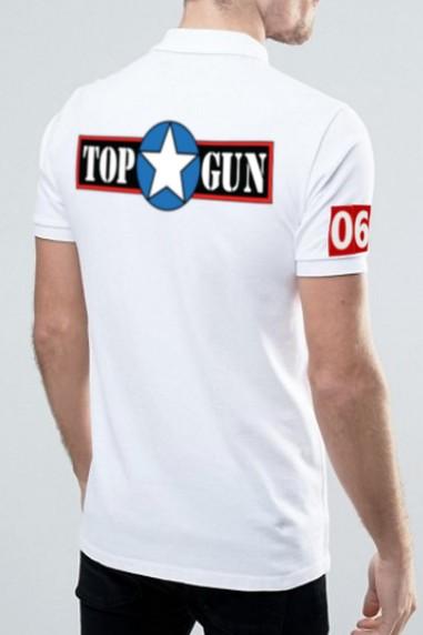 Polo hombre Topgun Pilot blanco