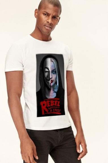 Camiseta Rebels Harley blanca
