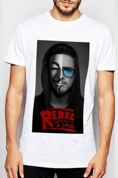 Camiseta unisex Rebels Stark blanca