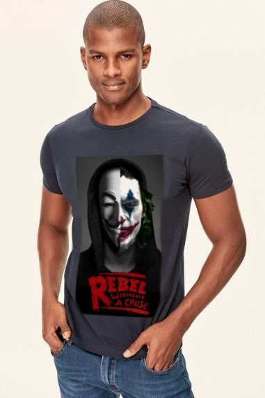 Camiseta Unisex Rebels Jocker negra