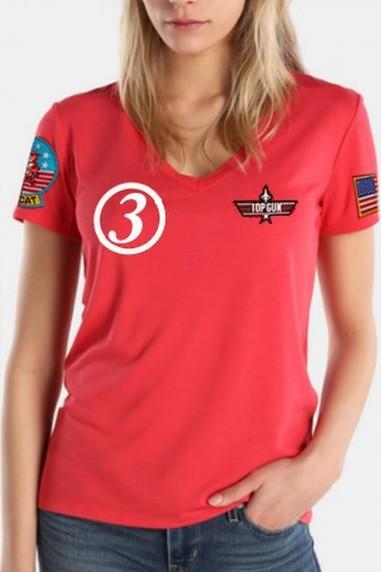 Camiseta  pico Phoenix Roja