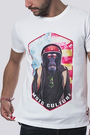 Camiseta Hombre Piqué Monkey Usa...