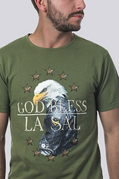 Camiseta Hombre Pique God Bless verde