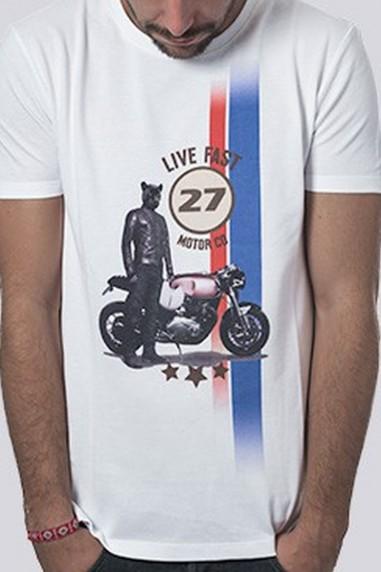 Camiseta Hombre Piqué Puma color blanco
