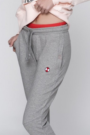 Jogging mujer goma gris
