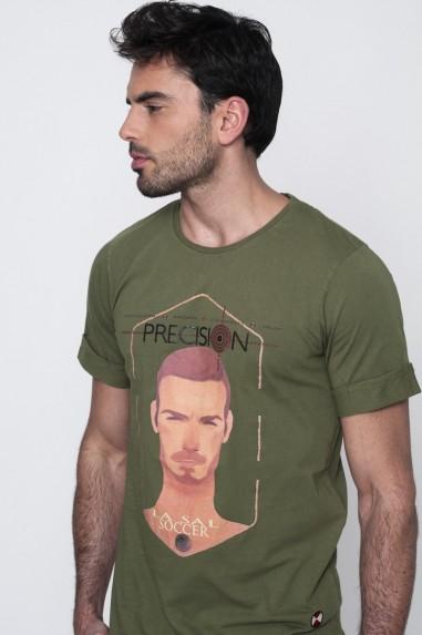 Camiseta Hombre Larga Precision verde