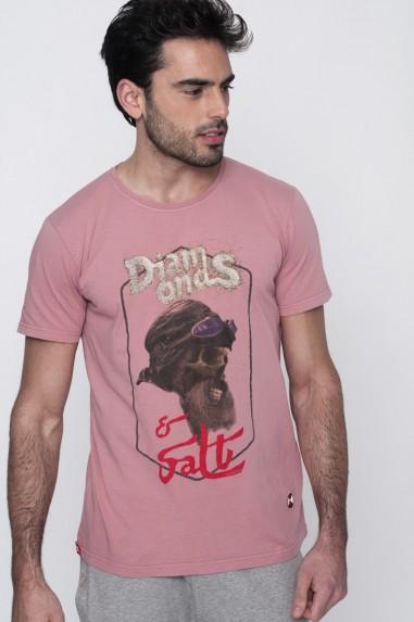 Camiseta Hombre Basic Diamonds rosa