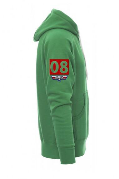 Sudadera  capucha Topgun verde