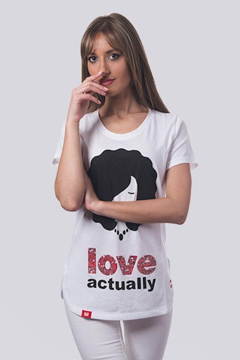 Camiseta Mujer Larga Love...
