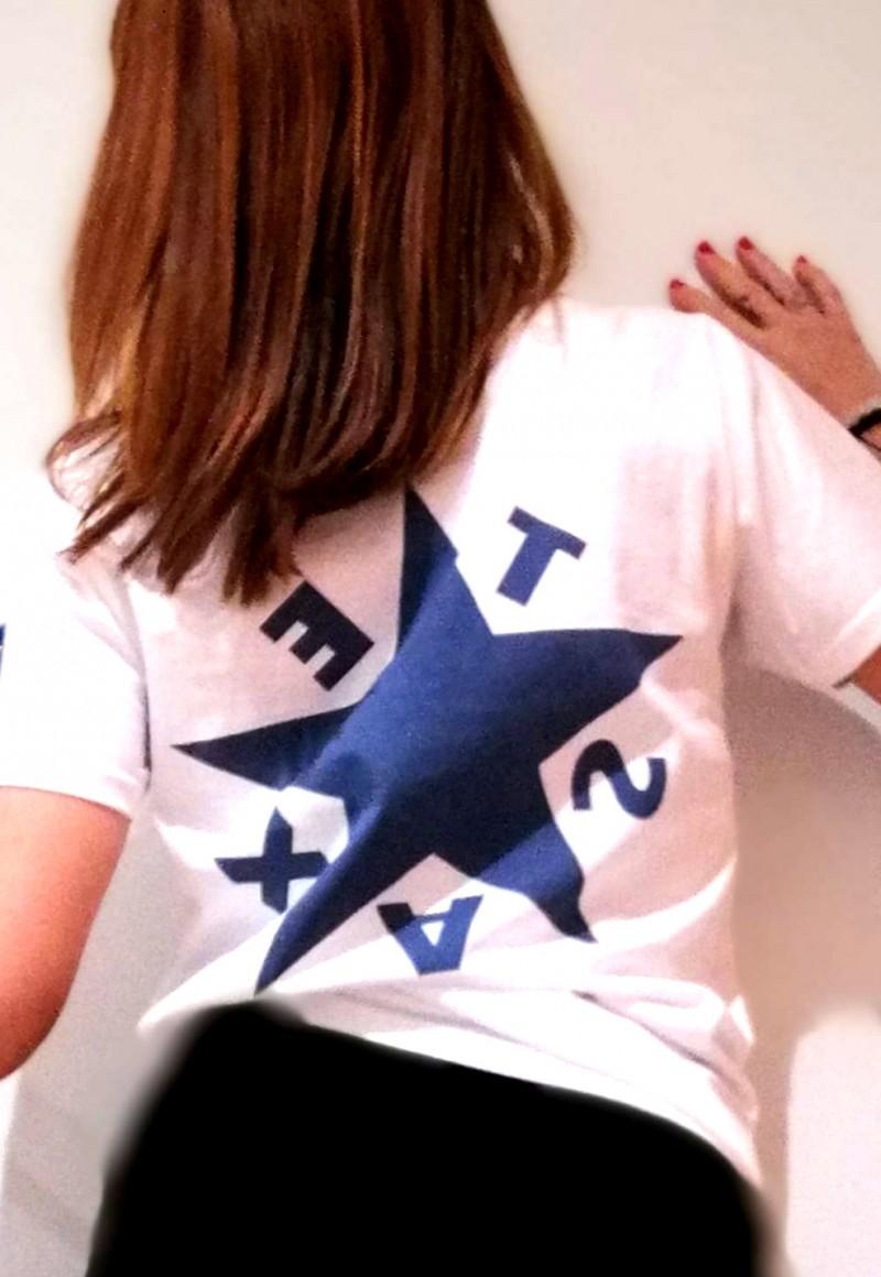 Camiseta  pico Texas Blanca