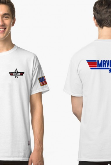 Camiseta Unisex Topgun Maverick Blanca