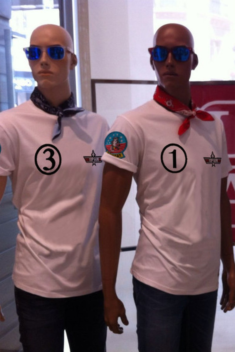 Camiseta   pico Phoenix Blanca