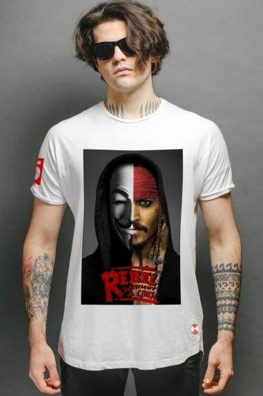 Camiseta  Rebels Jack color blanco