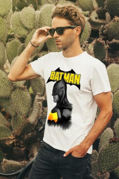 Camiseta unisex Batman color blanco