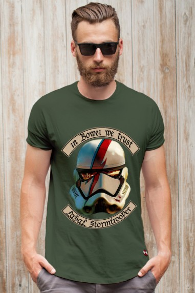 Camiseta hombre Tropper Wars color kaki