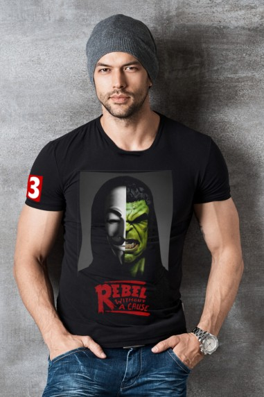 Camiseta hombre Rebels Hulk color negro