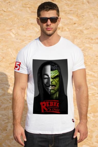 Camiseta hombre Rebels Hulk color blanco