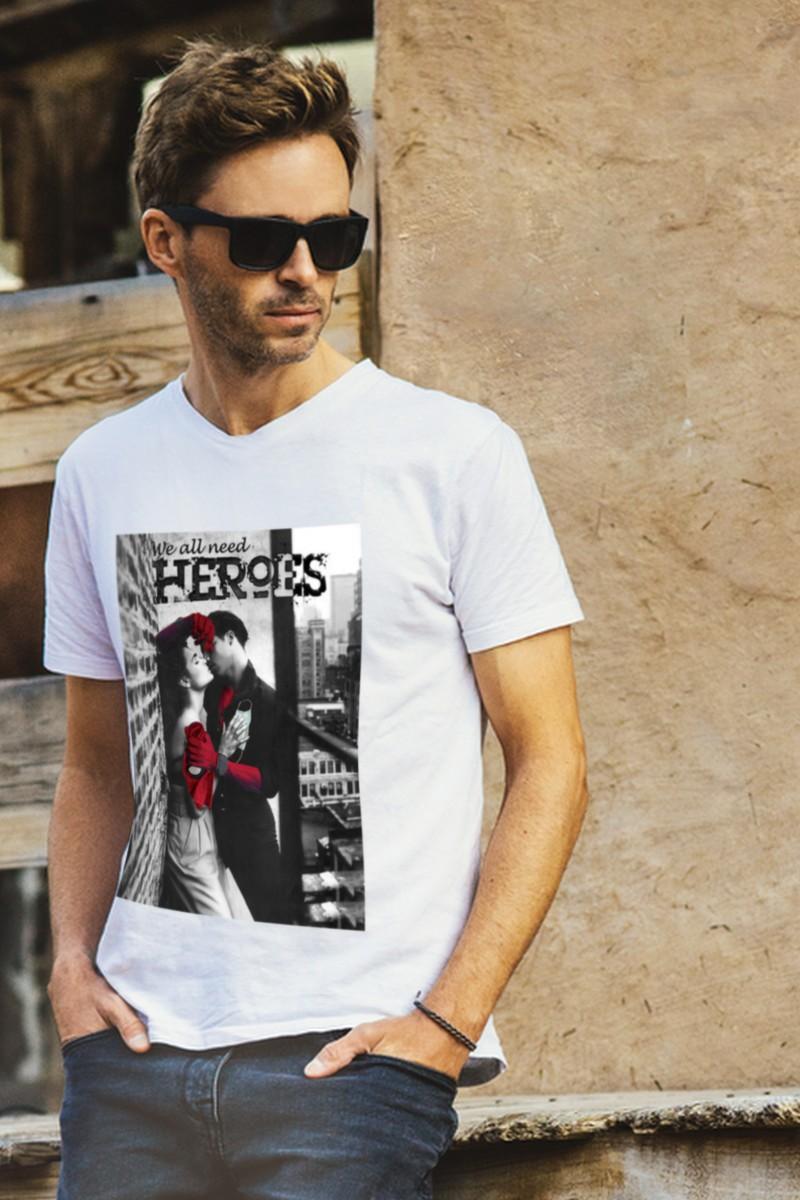 Camiseta de hombre Heroes...