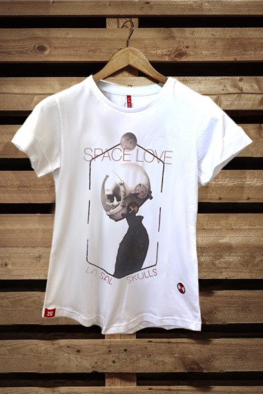 Camiseta Mujer Fit Space color blanco