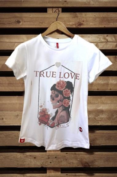 Camiseta Mujer Fit True Love color...