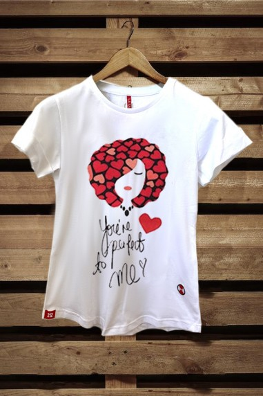 Camiseta Mujer Fit Perfect color blanco