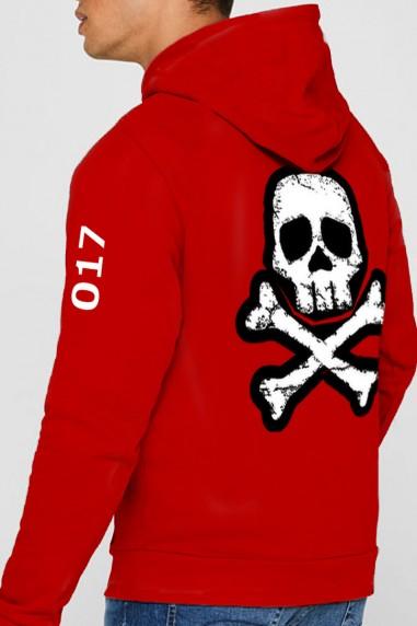 Sudadera de hombre Pirates color rojo