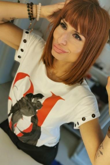 Camiseta mujer oversize Love color...